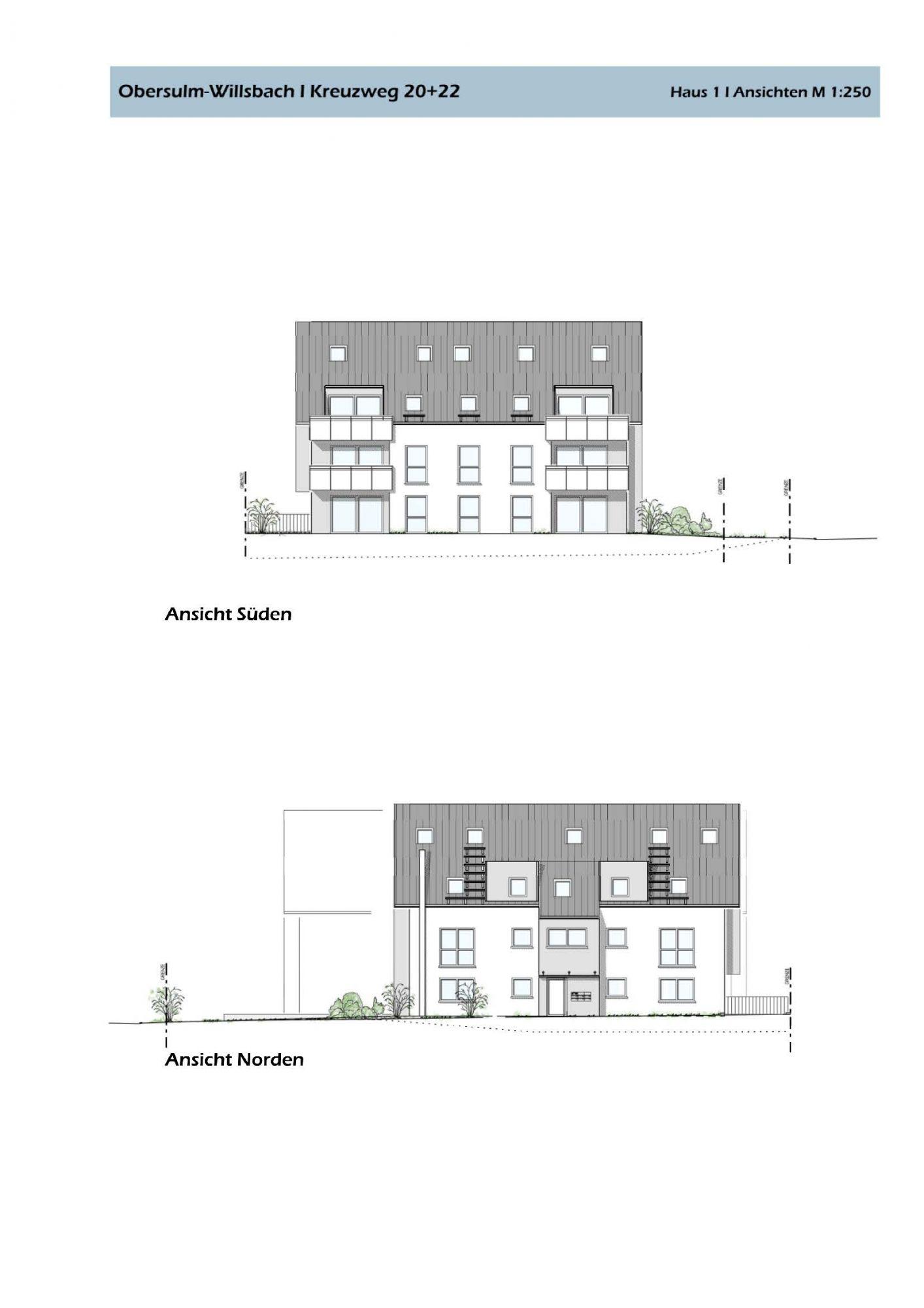 Zwei 2 Geschossige Wohnhäuser Mit Insgesamt 5  Dachgeschoss Maisonettewohnungen Und Einer Tiefgarage Mit 18 Stellplätzen  Sowie 9 Stellplätzen Im Freien.
